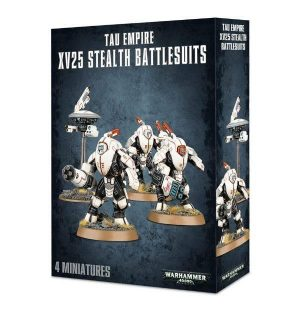 Games Workshop Warhammer 40,000  T'au Empire T'au XV25 Stealth Battlesuits - 99120113062 - 5011921091966