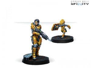 Corvus Belli Infinity  Yu Jing Yu Jing Tai Sheng, Zúyŏng Invincibles NCO (Breaker Rifle) - 281310-0793 - 2813100007934