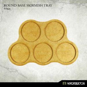 Kromlech   Movement Trays Round Base Skirmish Tray 40mm (3) - KRHB031 - 5902216114883
