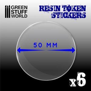 Green Stuff World   Infinity Tokens 6x Resin Token Stickers 50mm - 8436574503968ES - 8436574503968