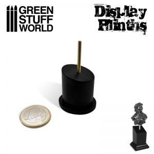 Green Stuff World   Display Plinths Tapered Round Bust Plinth 2,5x2,5cm Black - 8436574504972ES - 8436574504972