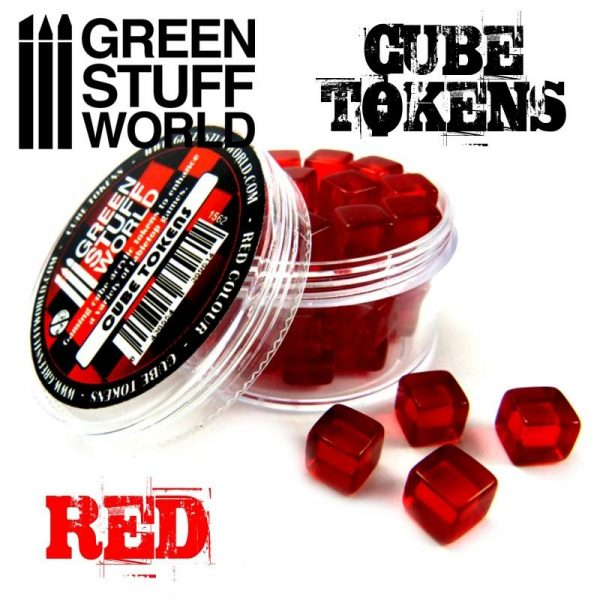 Green Stuff World   Status & Wound Markers Red Cube tokens - 8436554369614ES - 8436554369614