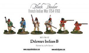 Warlord Games (Direct) Black Powder  French / Indian War FIW Delaware Indians B - WG7-FIW-50 - WG7-FIW-50