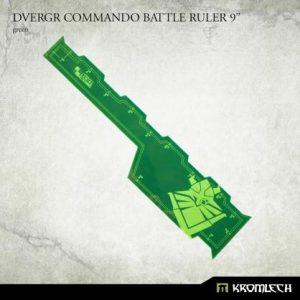 Kromlech   Tapes & Measuring Sticks Dvergr Commando Battle Ruler 9in [green] - KRGA088 - 5902216119710