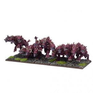 Mantic Kings of War  Forces of the Abyss Forces of the Abyss Hellhound Troop - MGKWA302 - 5060469660363