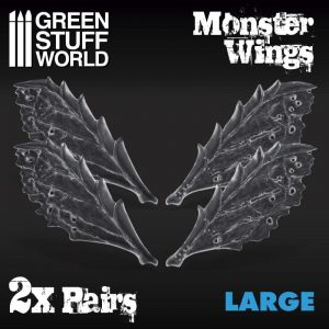 Green Stuff World   Green Stuff World Conversion Parts 2x Resin Monster Wings - Large - 8436574504781ES - 8436574504781