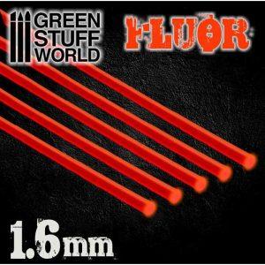 Green Stuff World   Acrylic Rods Acrylic Rods - Round 1.6 mm Fluor RED-ORANGE - 8436554367498ES - 8436554367498