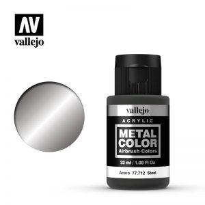 Vallejo   Metal Colour Metal Color - Steel 32ml - VAL77712 - 8429551777124