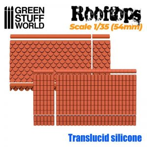 Green Stuff World   Mold Making Silicone Molds - Rooftops 1/35 (54mm) - 8436574506853ES - 8436574506853