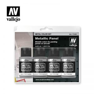 Vallejo   Metal Colour AV Vallejo Metal Color Set - Metallic Panel - VAL77601 - 8429551776011