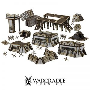 Warcradle Scenics   SALE! Omega Defence Line Set - WSA490001 - 5060504869331