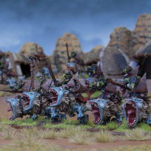 Mantic Kings of War  Goblins Goblin Fleabag Rider Regiment - MGKWO24-1 - 5060208864526