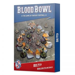 Games Workshop Blood Bowl  Blood Bowl Blood Bowl: Ogre Team Pitch & Dugouts - 99220913004 - 5011921157914
