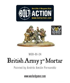 Warlord Games Bolt Action  Great Britain (BA) British Army 3'' Mortar Team - WGB-BI-24 - 5060200842126