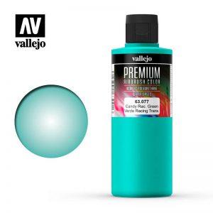 Vallejo   Premium Airbrush Colour AV Vallejo Premium Color - 200ml - Candy Racing Green - VAL63077 - 8429551630771