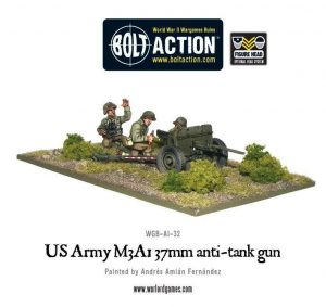 Warlord Games Bolt Action  United States of America (BA) US Army M3A1 37mm Anti-Tank Team - WGB-AI-32 - 5060200844915
