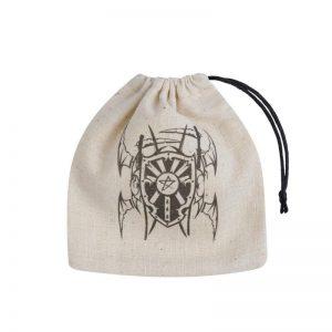 Q-Workshop   Dice Accessories Vampire Beige & black Basic Dice Bag - BVAM141 - 5907699493401
