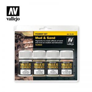 Vallejo   Pigments AV Vallejo Pigments Set - Mud & Sand - VAL73191 - 8429551731911