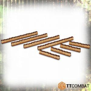 TTCombat   World War Scenics 15mm Walls - TTSCW-WAR-015 -