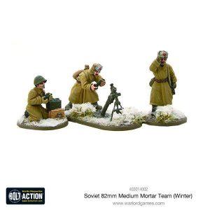 Warlord Games Bolt Action  Soviet Union (BA) Soviet 82mm Medium Mortar Team (Winter) - 403014002 - 5060393708278