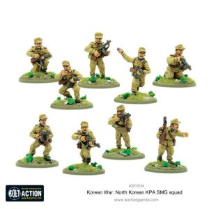 Warlord Games Bolt Action  Korean War (1950-1953) North Korean KPA SMG Squad - 402218104 - 5060572503731