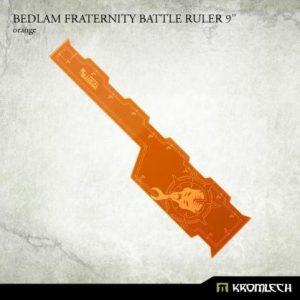Kromlech   Tapes & Measuring Sticks Bedlam Fraternity Battle Ruler 9in [orange] (1) - KRGA074 - 5902216116658