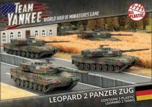 Battlefront Team Yankee  West Germany Leopard 2 Panzer Zug (Plastic) - TGBX01 - 9420020230736