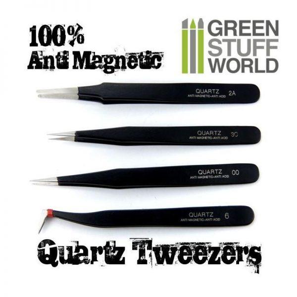 Green Stuff World   Green Stuff World Tools 100% Anti-magnetic QUARTZ Tweezers SET - 8436554361564ES - 8436554361564