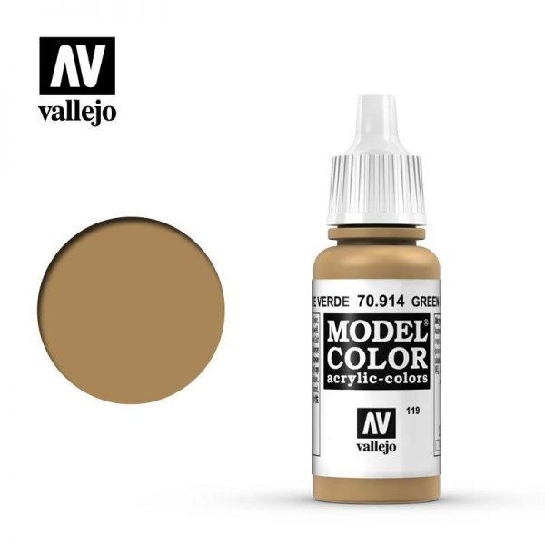 Vallejo   Model Colour Model Color: Green Ochre - VAL914 - 8429551709149