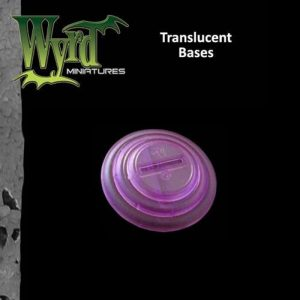Wyrd   Translucent Bases Purple 30mm Translucent Bases - 10 Pack - WYR0055 - 813856013908