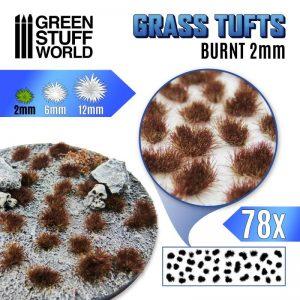 Green Stuff World   Tufts Grass TUFTS - 2mm self-adhesive - Burnt - 8435646504810ES -