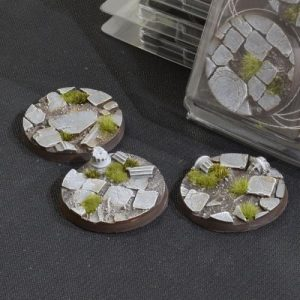 Gamers Grass   Battle-ready Temple Bases Temple Bases Round 50mm (x3) - GGB-TR50 -