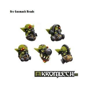 Kromlech   Orc Conversion Parts Orc Gasmask Heads (10) - KRCB084 - 5902216110823