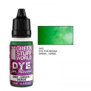Green Stuff World   Resin Dye for Resins GREEN - 8436574507614ES - 8436574507614