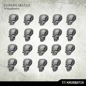 Kromlech   Basing Extras Human Skulls (20) - KRBK009 - 5902216113954