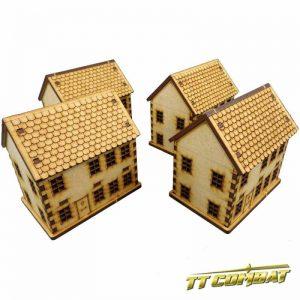 TTCombat   World War Scenics 15mm Town House Set - WAR001 - 5060504043267