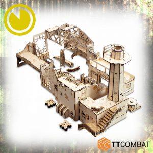 TTCombat   World War Scenics Tank Manufacturing Warehouse - TTSCW-WAR-056 - 5060880910375