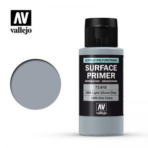 Vallejo   Model Air Primers AV Polyurethane - Primer USN Light Ghost Grey FS36375 60ml - VAL73615 - 8429551736152