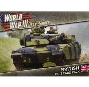Battlefront Team Yankee  SALE! WWIII: British Unit Card Pack - WW3-02U - 9420020249356
