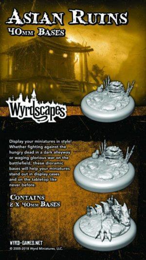 Wyrd   Asian Ruins Wyrdscapes Asian Ruins 40mm Bases - 2 Pack - WYRWS011 - 813856018743