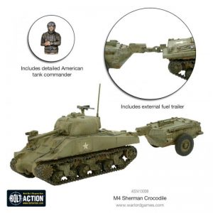Warlord Games Bolt Action  United States of America (BA) Sherman Crocodile Flamethrower Tank - 402413008 - 5060572500341