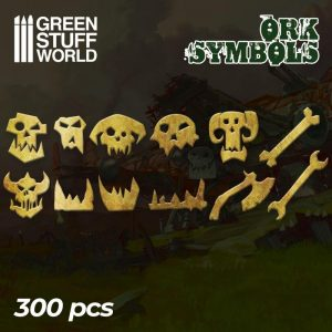 Green Stuff World   Etched Brass Etched Brass Ork Runes and Symbols - 8436574504705ES - 8436574504705