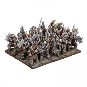 Mantic Kings of War  Northern Alliance Northern Alliance Clansmen Regiment with Two-Handed Weapons - MGKWL303 - 5060469665719
