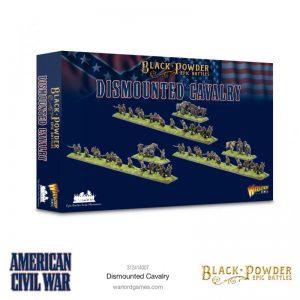 Warlord Games Black Powder Epic Battles  Black Powder Epic Battles Epic Battles: American Civil War Dismounted Cavalry - 312414007 - 5060572509658