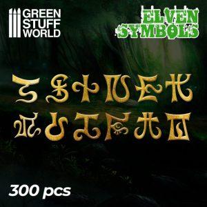 Green Stuff World   Etched Brass Etched Brass Elven Runes and Symbols - 8436574505351ES - 8436574505351
