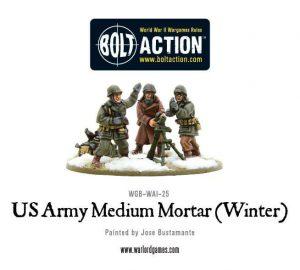 Warlord Games Bolt Action  United States of America (BA) US Army Medium Mortar (Winter) - WGB-WAI-25 - 5060393702931