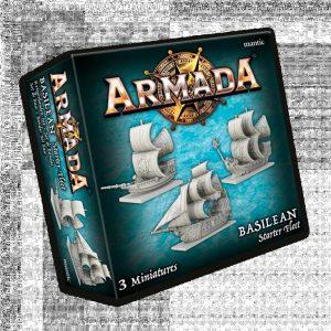 Mantic Kings of War Armada  Basileans Basilean Starter Fleet - MGARB101 - 5060469666464