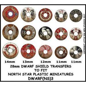 North Star Oathmark  Oathmark Dwarf Shield Transfers 3 - DWARF(NS)3 -