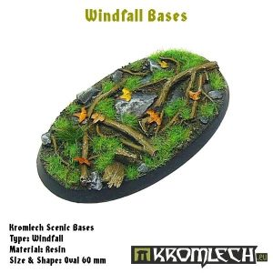 Kromlech   Windfall Bases Windfall oval 60x35mm (1) - KRRB029 -