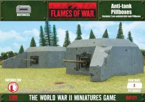 Gale Force Nine   Battlefield in a Box Flames of War: Anti-Tank Bunkers - BB121 - 9420020216709